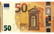 Новая купюра 50 евро, фото