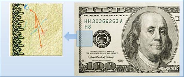 проверка долларов по волокнам
