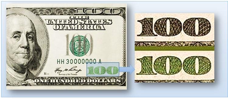 Цветовой эффект на долларах