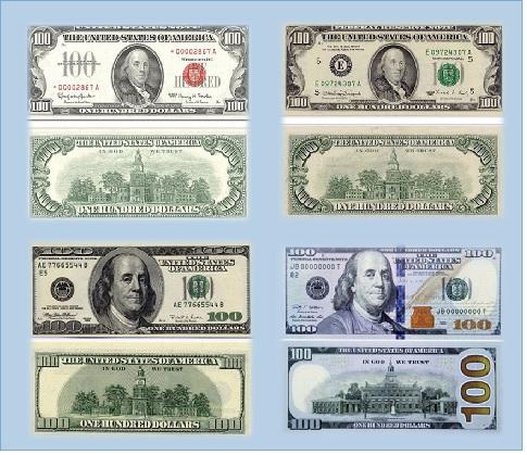 Вид сто долларов