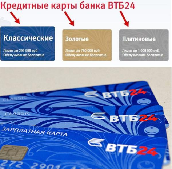 Втб кредитная карта онлайн